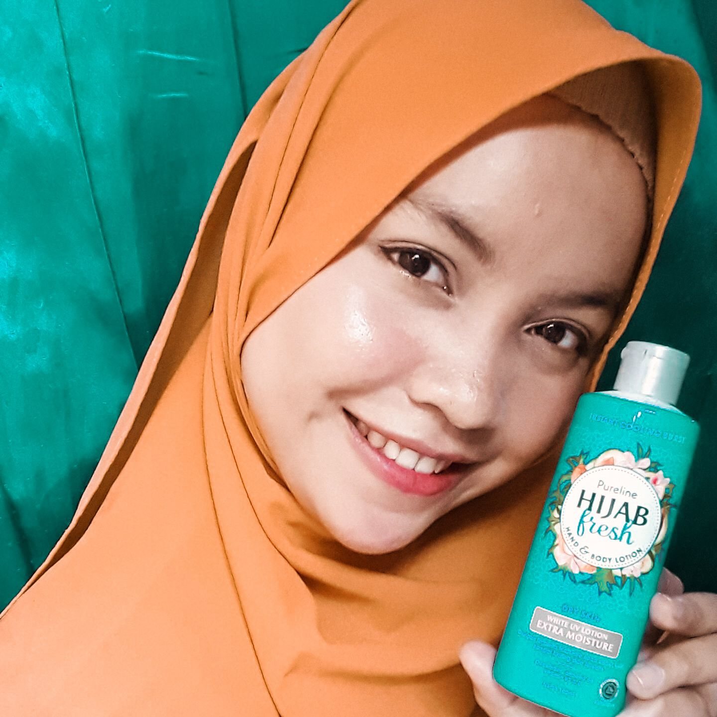 gambar review ke-1 untuk Pureline Hijab Fresh Hand & Body Lotion Healthy & Bright