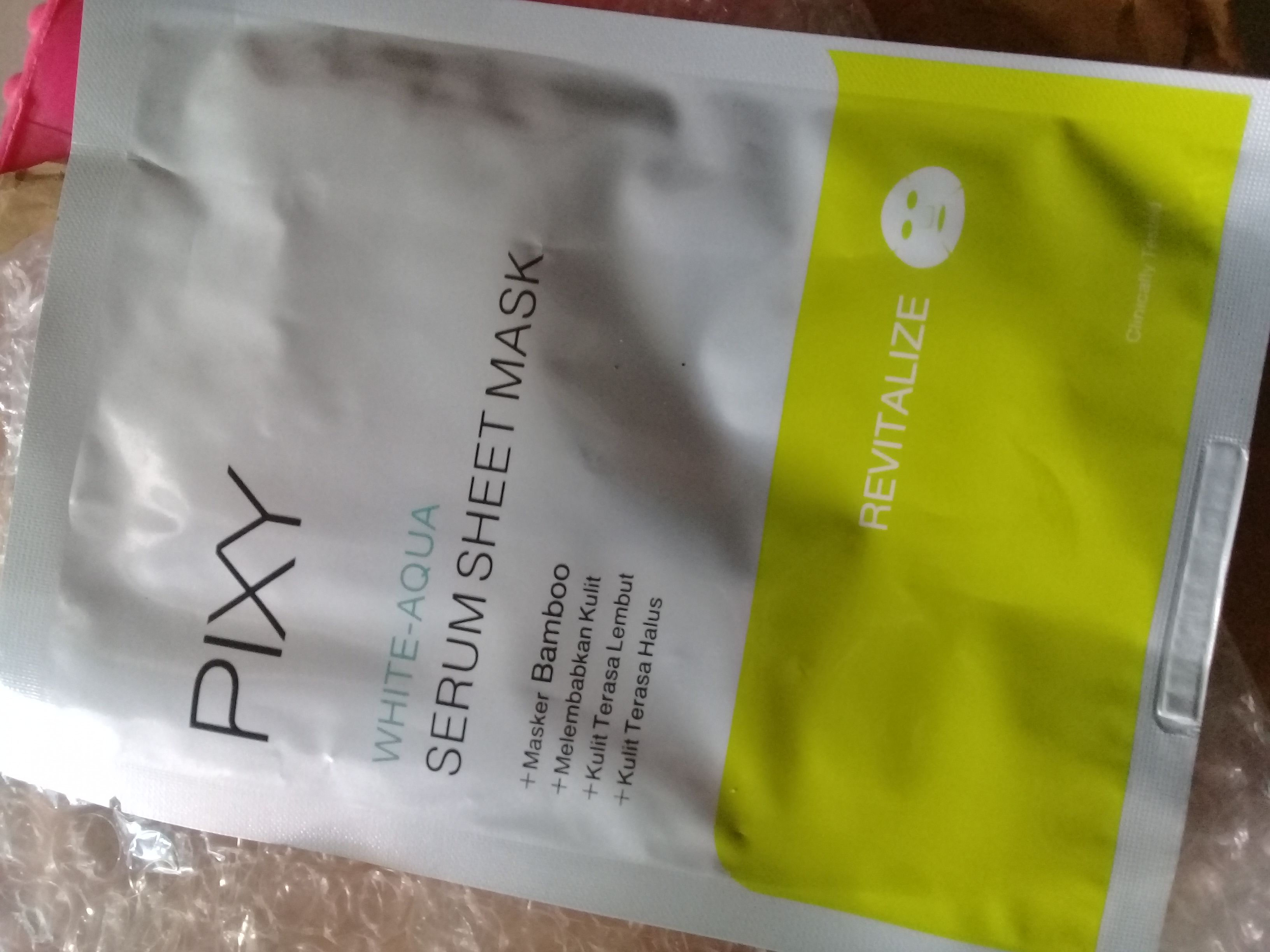 image review PIXY White - Aqua Serum Sheet Mask