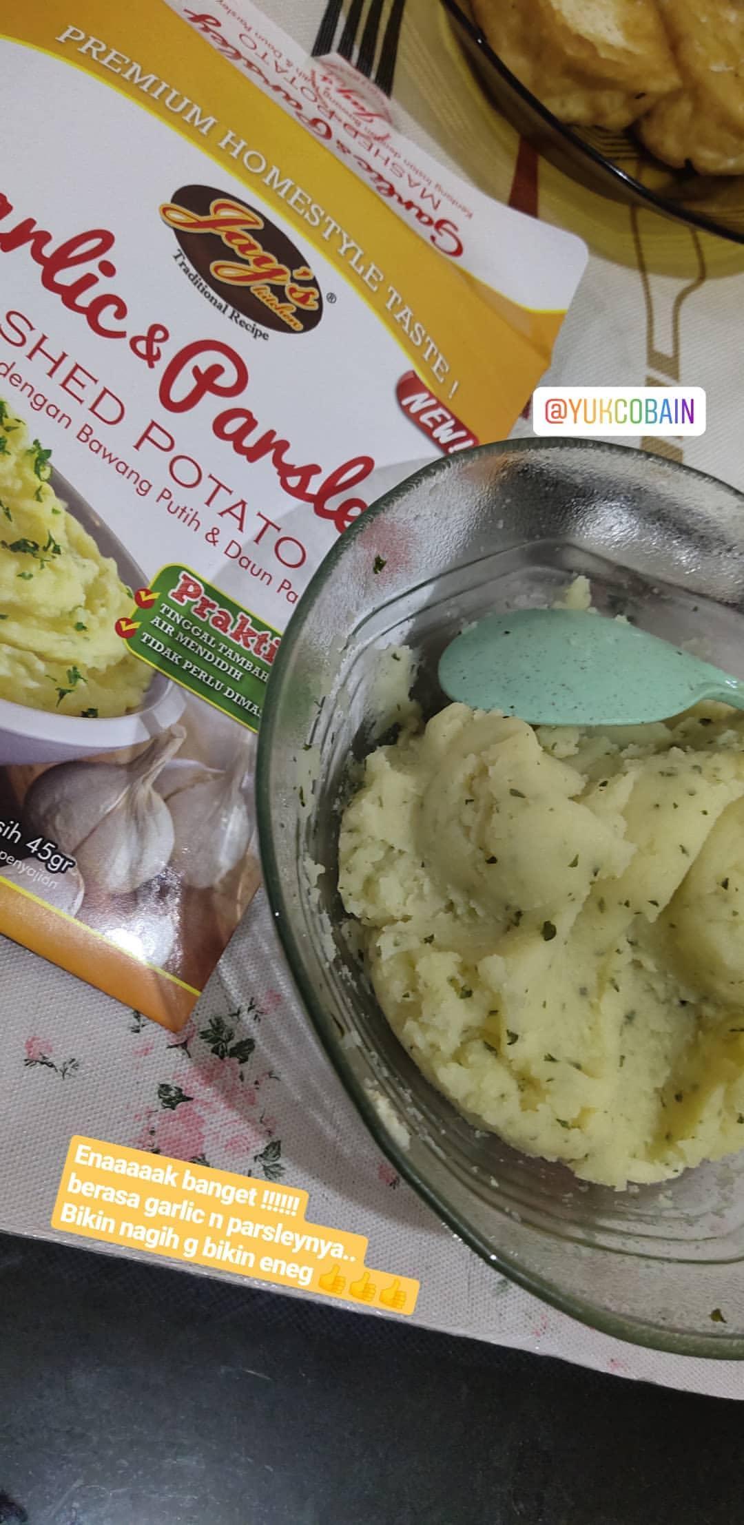 gambar review ke-1 untuk Jay's Kitchen Garlic and Parsley Mashed Potato