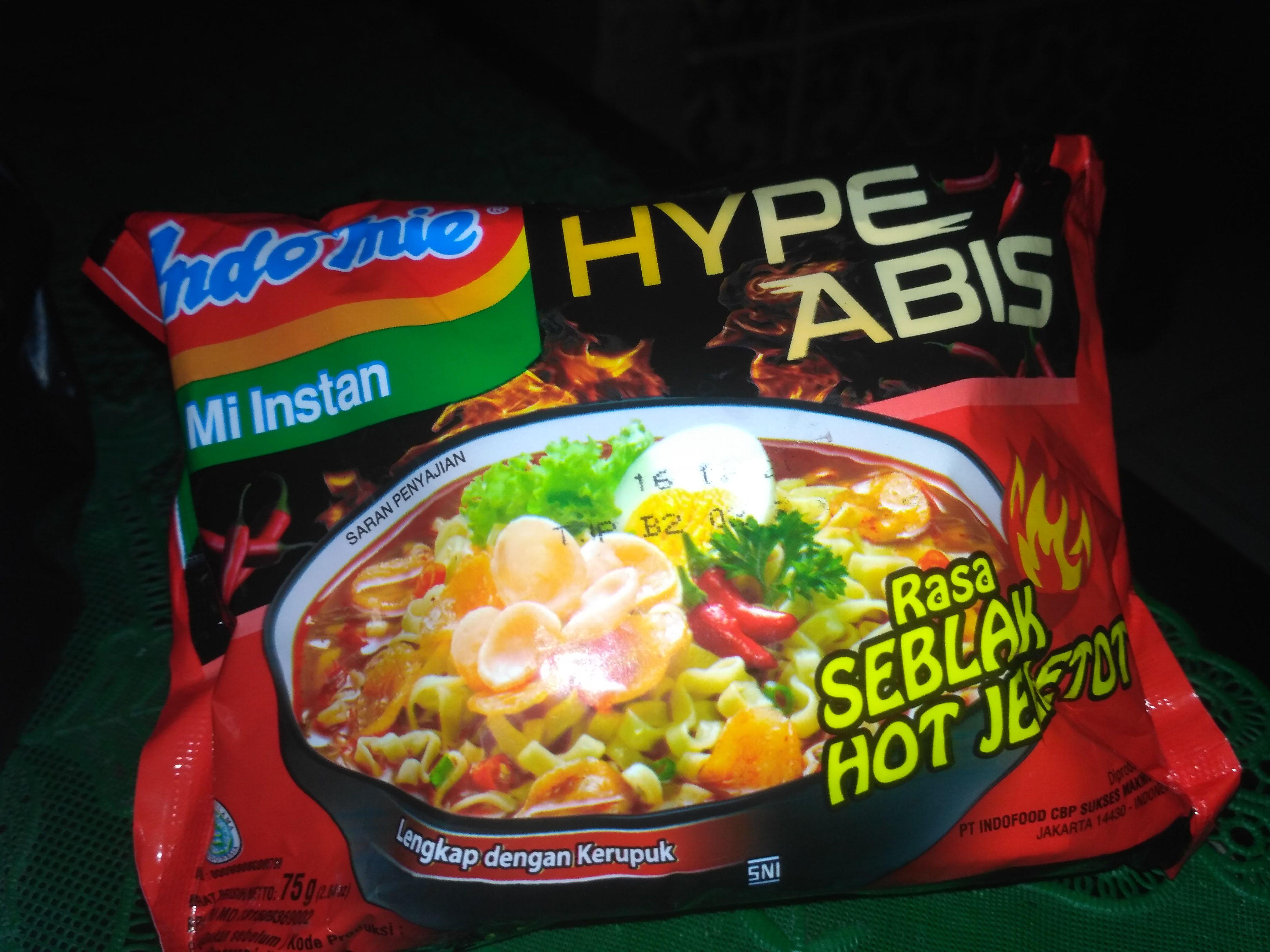 Indomie Hype Abis Seblak Hot Jeletot