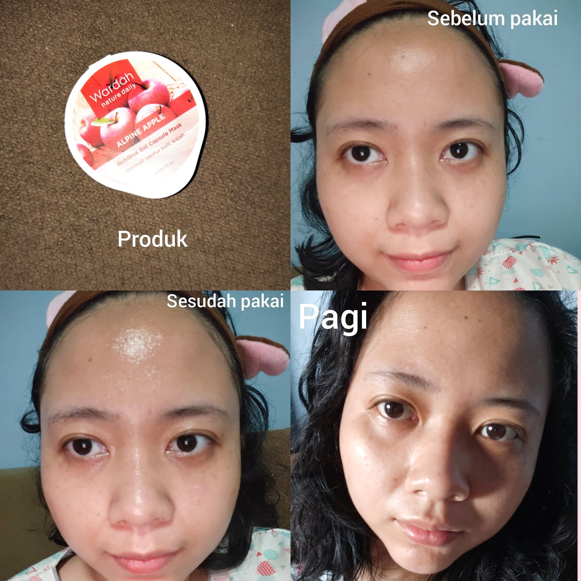 Wardah Nature Daily Alpine Apple Nutritive Gel Capsule Mask