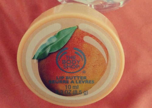 gambar review ke-1 untuk The Body Shop Mango Lip Butter
