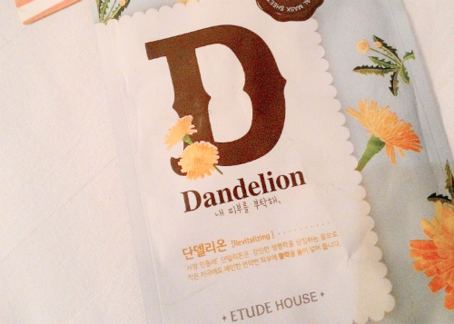 image review Etude House Essential Mask Sheet Dandelion