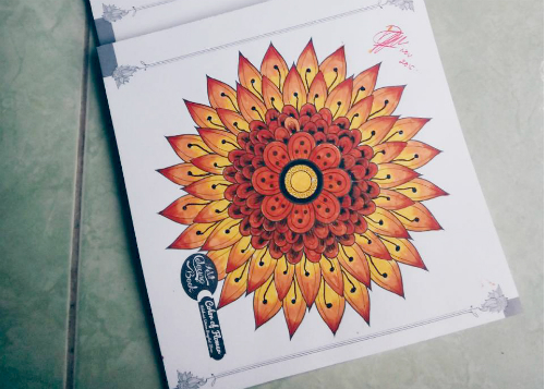 gambar review ke-1 untuk Adult Coloring Book Flowers