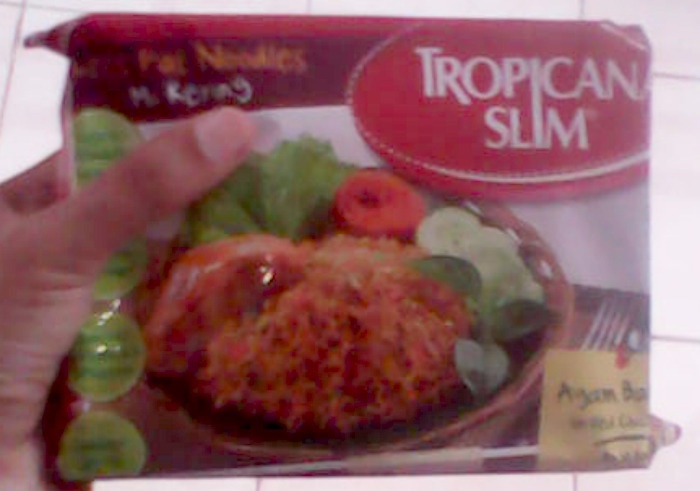 image review Tropicana Slim Less Fat Noodles Rasa Ayam Bakar