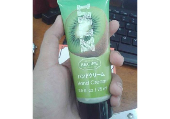 image review Beaute Recipe Hand Cream Kiwi
