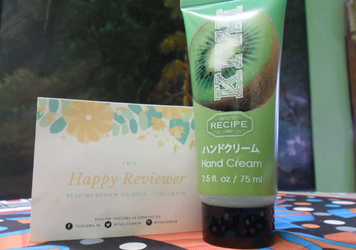 image review Beaute Recipe Hand Cream Kiwi