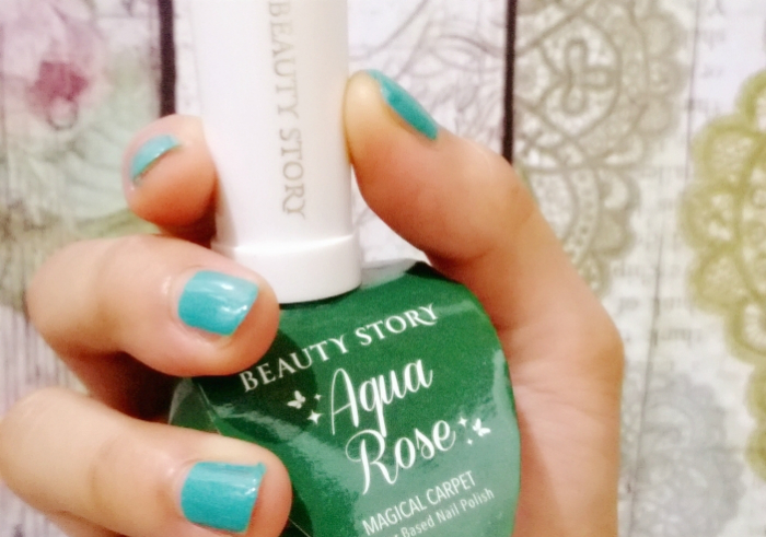 gambar review ke-1 untuk Beauty Story Aqua Rose Water Based Nail Polish Magical Carpet