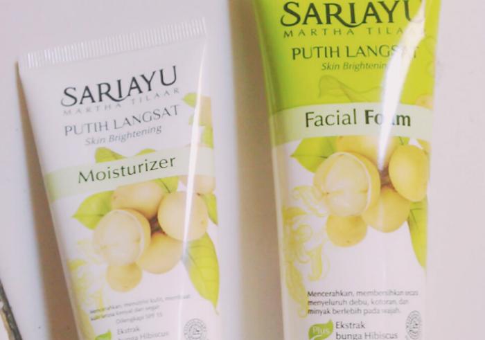gambar review ke-1 untuk Sariayu Putih Langsat Facial Foam dan Moisturizer