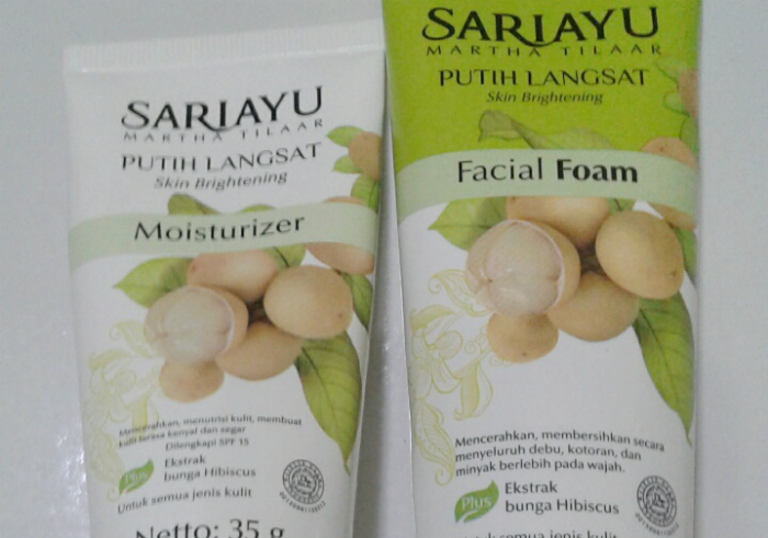 image review Sariayu Putih Langsat Facial Foam dan Moisturizer