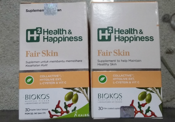 image review Suplemen Kulit H2 Health & Happiness Fair Skin
