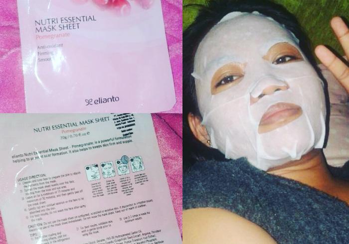 image review Masker Wajah Elianto Nutri Essential Mask Sheet Pomegranate