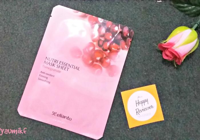 gambar review ke-1 untuk Masker Wajah Elianto Nutri Essential Mask Sheet Pomegranate