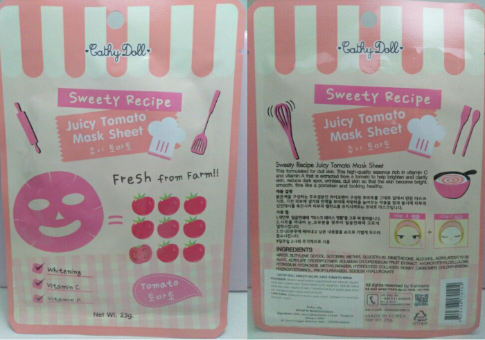 image review Cathy Doll Sweety Recipe Juice Tomato Mask