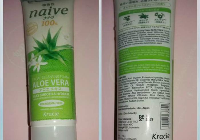 gambar review ke-1 untuk Kracie Naive Facial Cleansing Foam Aloe Vera