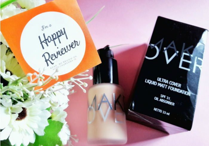 gambar review ke-1 untuk Make Over Liquid Matt Foundation Pink Shade
