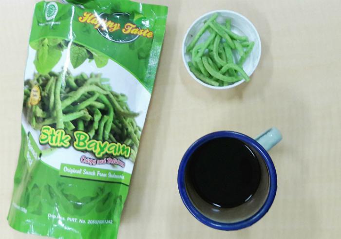 gambar review ke-1 untuk Camilan Sehat Happy Taste Stik Bayam