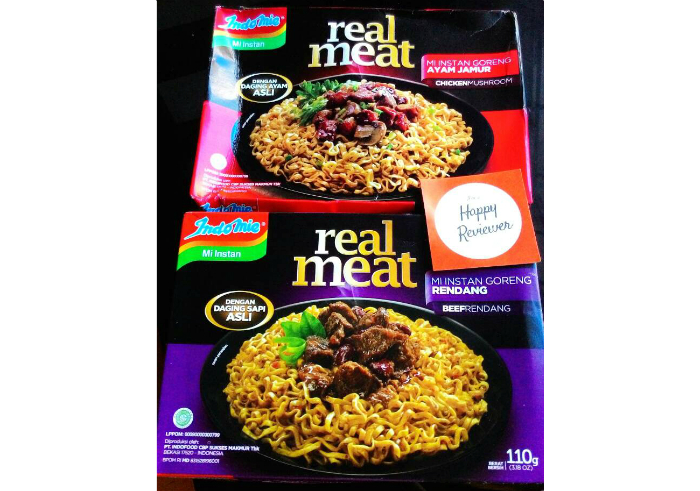 image review Mie Instan Indomie Real Meat