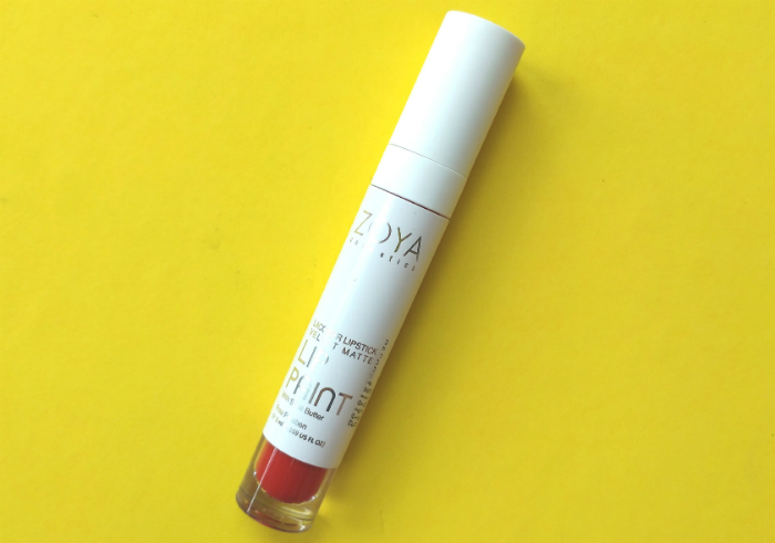 image review Zoya Cosmetics Lip Paint Pure Red