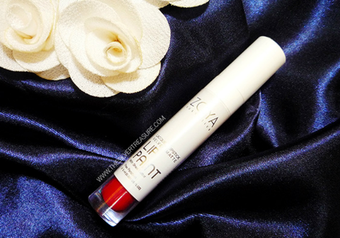 gambar review ke-1 untuk Zoya Cosmetics Lip Paint Pure Red