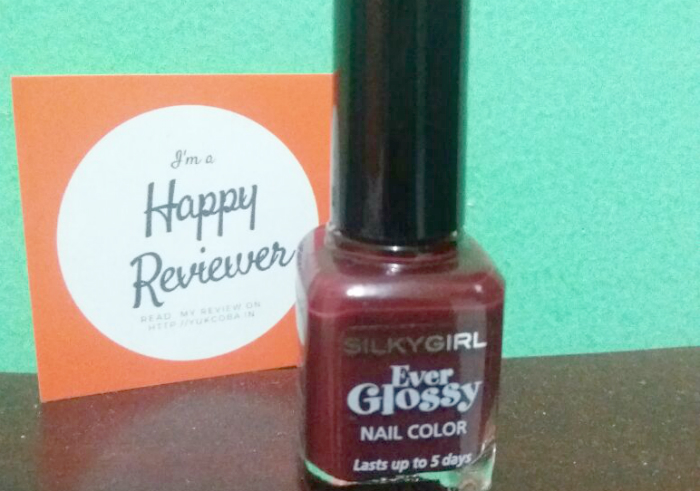 review user Silky Girl Ever Glossy Nail Color Royal Ruby