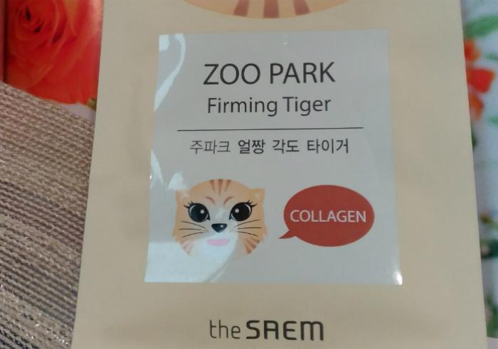 gambar review ke-1 untuk Masker Wajah The Saem Zoo Park Firming Tigger