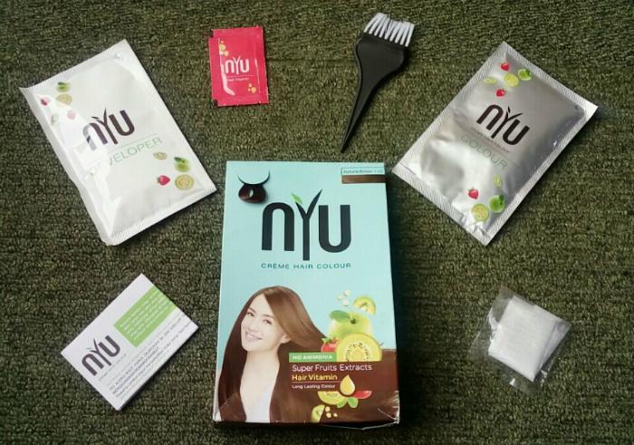 gambar review ke-1 untuk NYU Creme Hair Colour Natural Brown