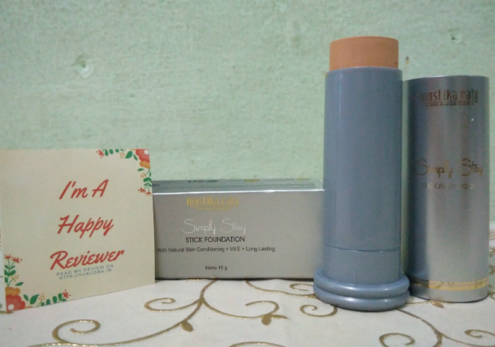 image review Mustika Ratu Simply Stay Stick Foundation Smoothie Yellow