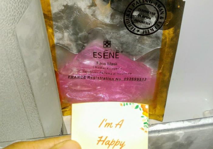 gambar review ke-1 untuk Esene Face Mask Collagen Pink