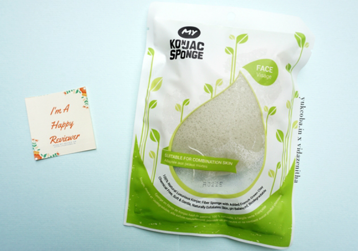 image review My Konjac Sponge French Green Clay