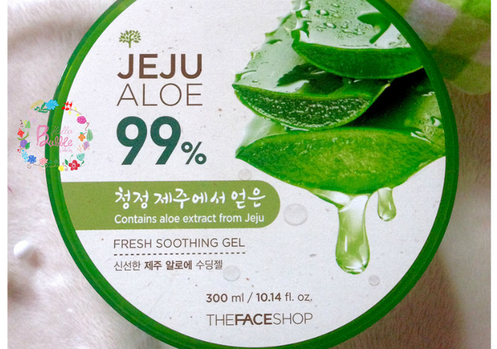 gambar review ke-1 untuk The Face Shop Jeju Aloe 99% Fresh Soothing Gel