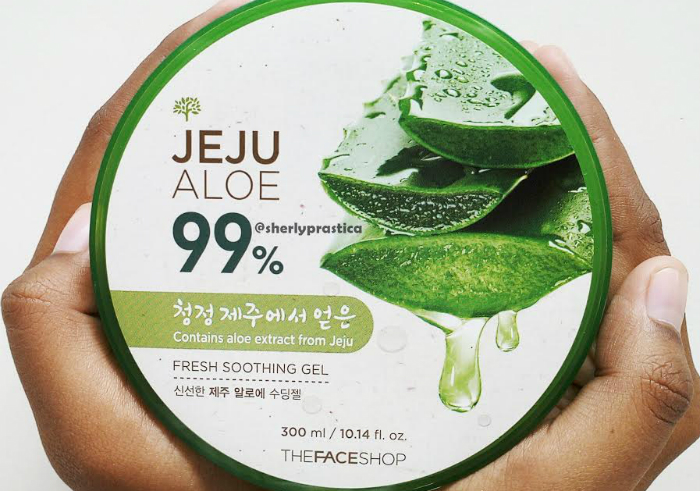 image review The Face Shop Jeju Aloe 99% Fresh Soothing Gel