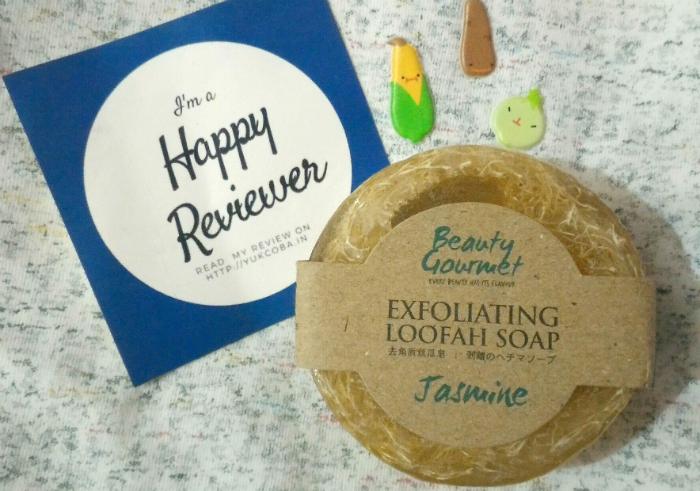 gambar review ke-1 untuk Secret Garden Beauty Gourmet Exfoliating Loofah Soap Jasmine