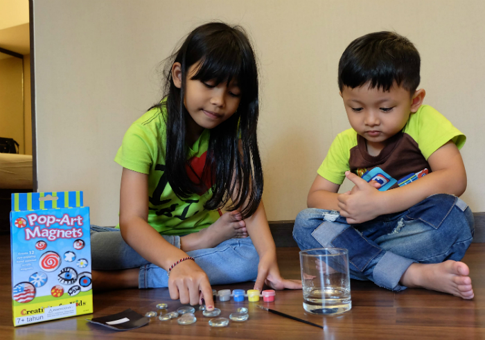 image review Faber Castel Creativity For Kids Pop-Art Magnets