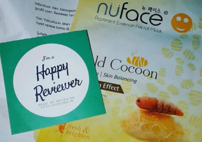 image review Nuface Prominent Essence facial Mask Gold Cocoon