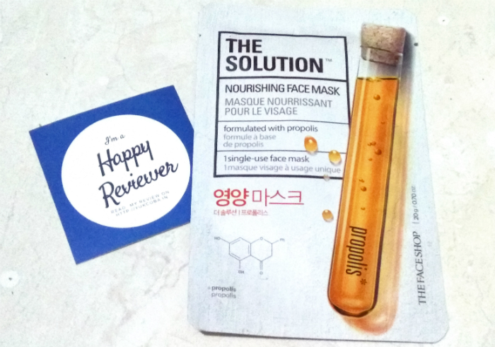 image review The Face Shop The Solution Nourishing Face Mask