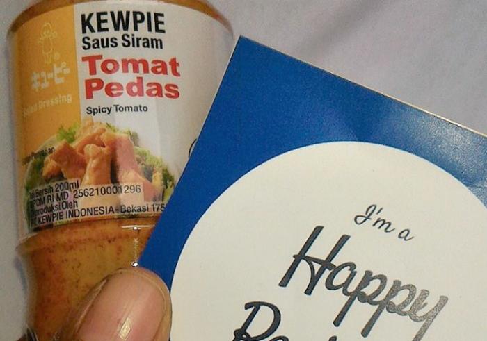 gambar review ke-1 untuk Kewpie Saus Siram Tomat Pedas