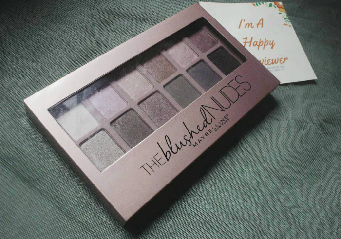 image review Maybelline The Blushed Nudes Eyeshadow Palette