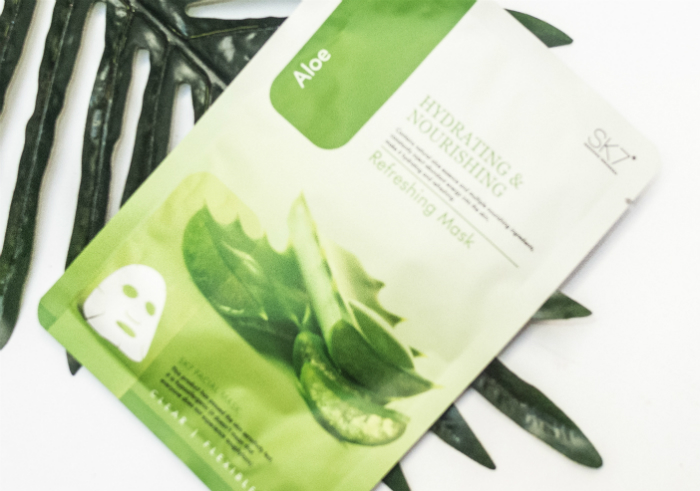 gambar review ke-1 untuk Masker Wajah SK7 Aloe Refreshing Mask Hydrating & Nourishing