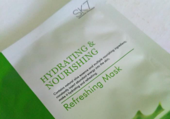 image review Masker Wajah SK7 Aloe Refreshing Mask Hydrating & Nourishing