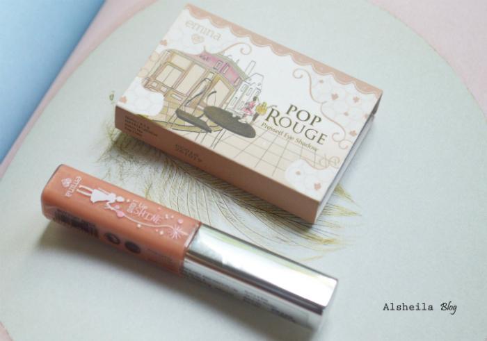 gambar review ke-1 untuk  Emina Make Up Eyeshadow dan Liquid Lip
