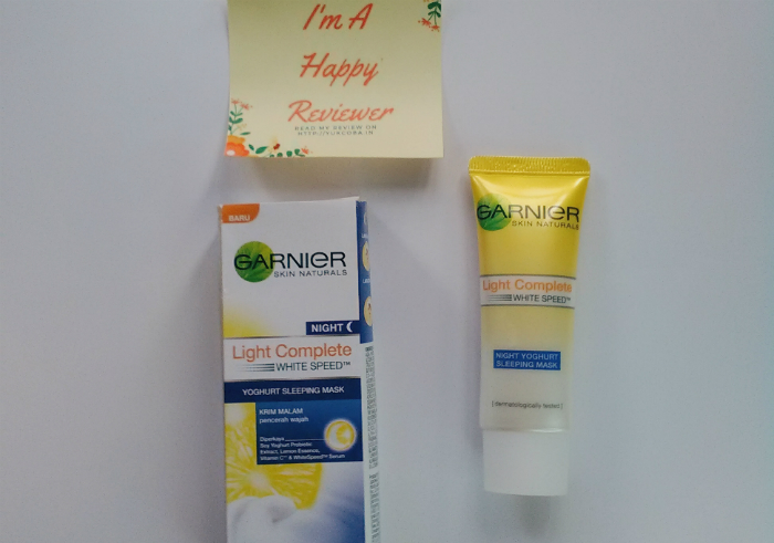 image review Garnier New Light Complete Yoghurt Sleeping Mask