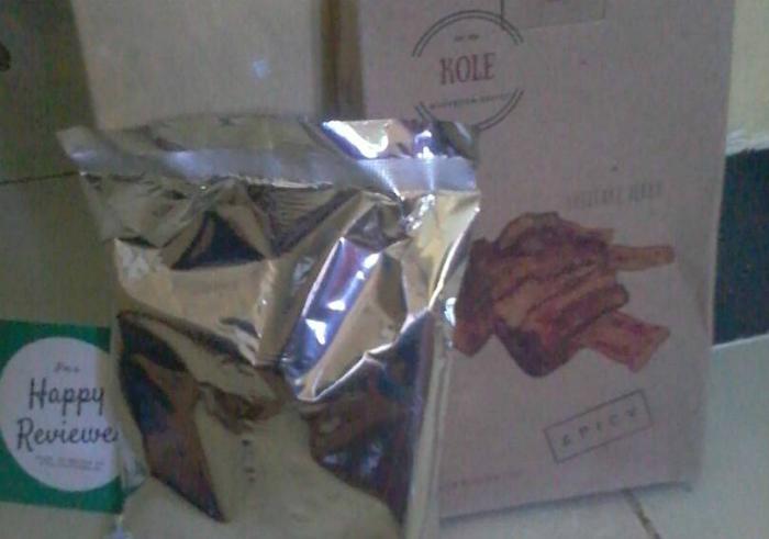 image review Kole Dendeng Jamur Shiitake Pedas