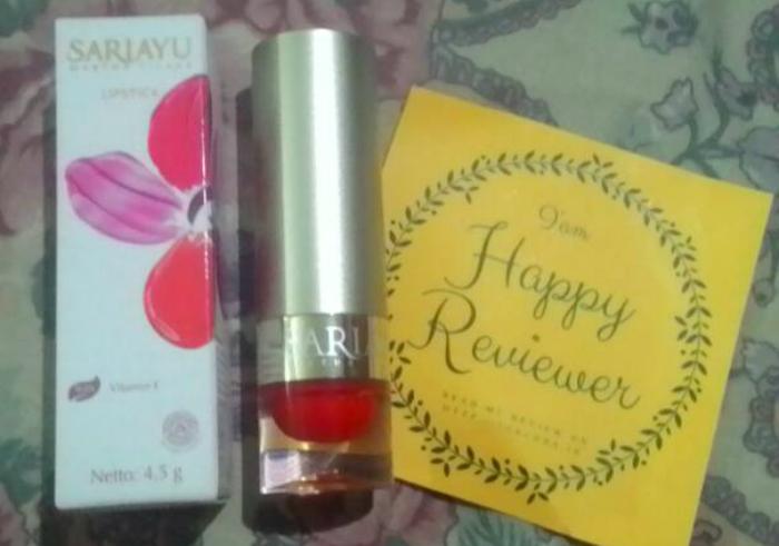 gambar review ke-1 untuk Sariayu Lipstick Marunda 3