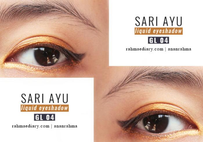 gambar review ke-1 untuk Sariayu Color Trend 2017 Liquid Eyeshadow GL 04