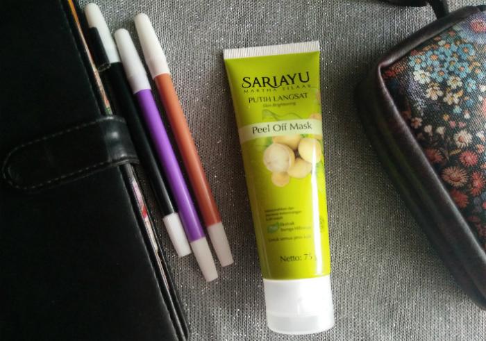 gambar review ke-1 untuk Sariayu Putih Langsat Peel Off Mask