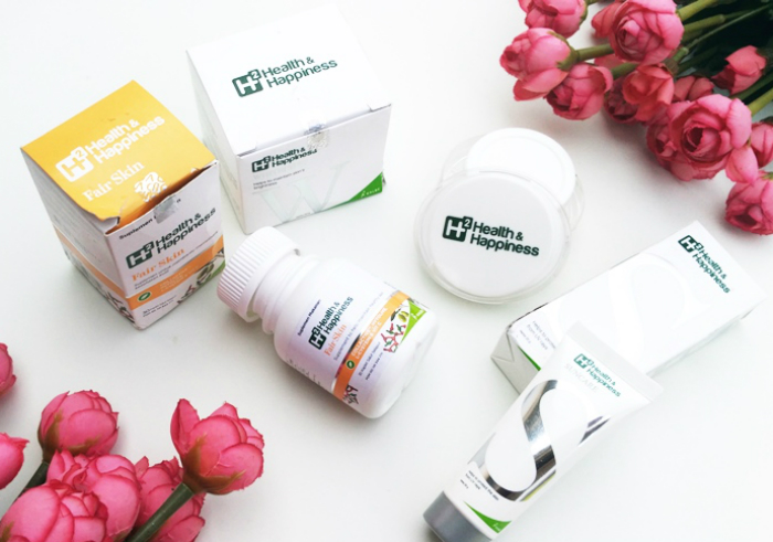 image review Rangkaian Perawatan Wajah H2 Health & Happiness Whitening, Suncare dan Fair Skin