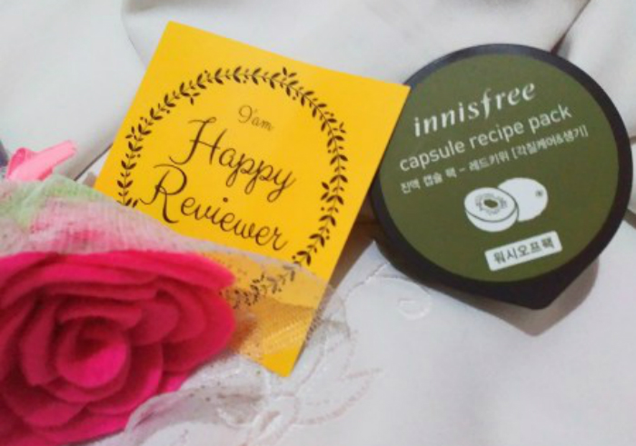 image review Innisfree Capsule Recipe Pack Red Kiwi