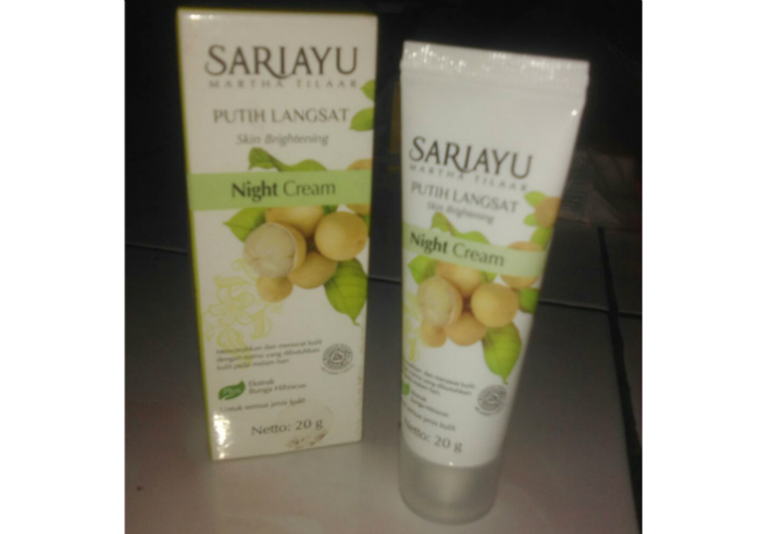 image review Sariayu Putih Langsat Night Cream