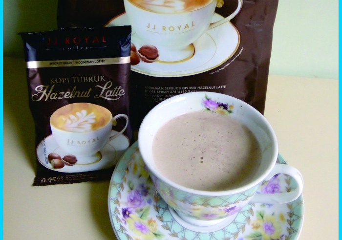 image review Kopi tubruk JJ Royal Coffee Hazelnut Latte